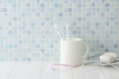 洗面所の歯ブラシ