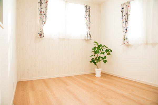 クッションフロアと植物