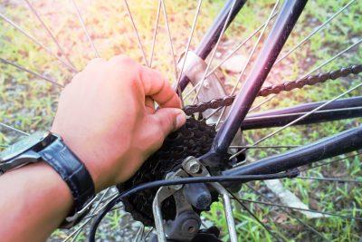 自転車のチェーンのメンテナンス