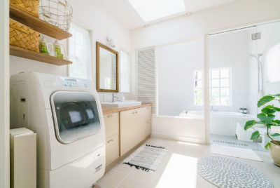 お風呂場の洗濯機