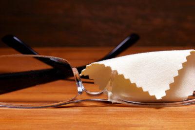 メガネのクリーニング