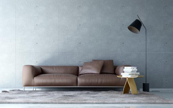 革素材のソファー